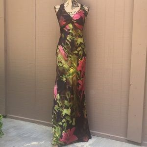 NWT Sz 2 Cache Silky Evening Gown